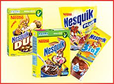 Нескуик зърнени закуски и напитки от Нестле