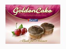 "Кекс ""Golden cake"" 240g. топинг вишна"