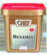 """<p style=""""font-size: 15px;""""><strong>CHEF® Сос Бешамел</strong></p><p style=""""color: #010101;"""">Основен бял сос за супи и рагу . Може да се използва и като основа за приготвяне на други сосове. За 4 порции изсипете 70 гр от продукта в 1 л вряща вода и разбъркайте докато заври.<br /> 1.1 кг / 62 порции</p>"""
