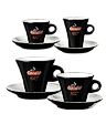 "<p style=""font-size: 15px;""><strong>Порцеланови чаши черни</strong></p><p style=""color: #010101;"">Чаши порцелан Carraro 1927 за еспресо, двойно кафе, капучино и чай.</p>"