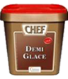 """<p style=""""font-size: 15px;""""><strong>CHEF® Сос Деми Глас</strong></p><p style=""""color: #010101;"""">Основен кафяв сос на базата на телешко месо. Подходящ за сервиране с червени меса, служи за основа на много други сосове. За 4 порции изсипете 75 гр от продукта в 1 л вряща вода и разбърквайте докато заври. Гответе 3 минути. Махнете от огъня и пасирайте.<br /> 1.1 кг / 58 порции</p>"""