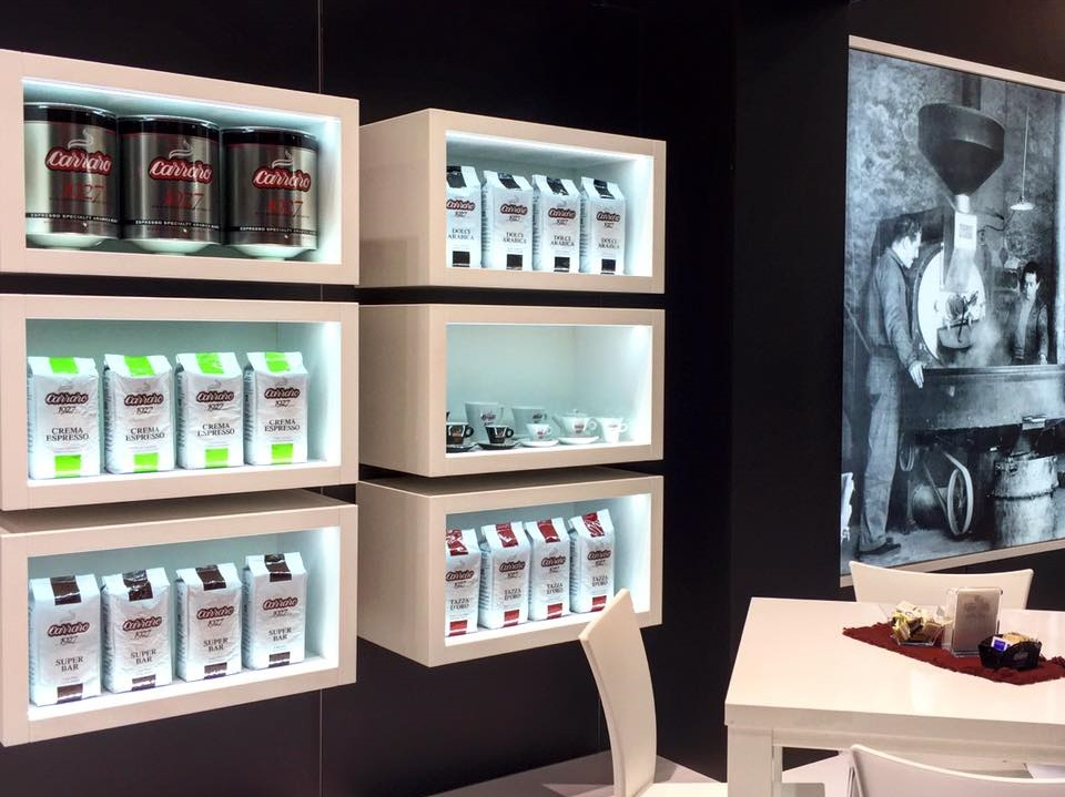 Caffe Carraro products at HOST 2015 Milan