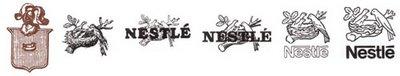 Еволюция на логото на NESTLE през годините